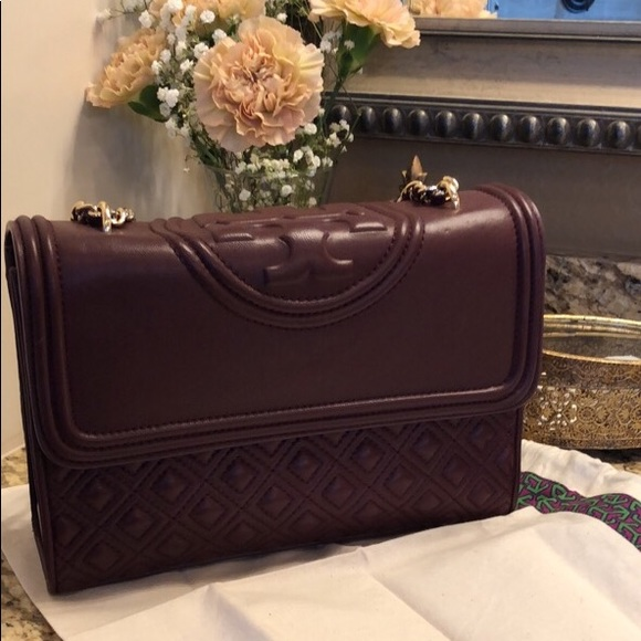 Tory Burch Handbags - Tory Burch Fleming Merlot